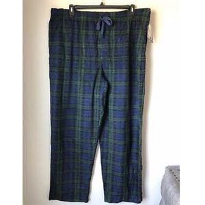 NWT $30 Mens Saddlebred® All Over Deer Printed Flannel Lounge Sleep Pant L LARGE